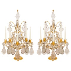 Pair of French 19th Century Louis XV Style Girandole Lamps