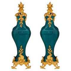 Pair of French 19th Century Louis XV Style Belle Époque Period Vases