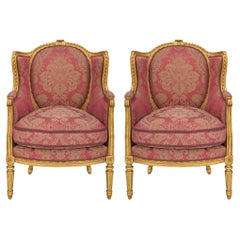 Pair of French 19th Century Louis XVI St. Armchairs