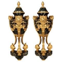 Pair of French 19th Century Louis XVI St. Belle Époque Period Cassolettes