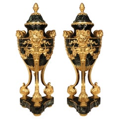 Pair of French 19th Century Louis XVI Style Belle Époque Period Cassolettes