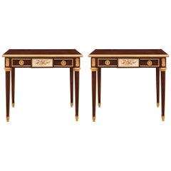 Pair of French 19th Century Louis XVI Style Belle Époque Period Side Tables