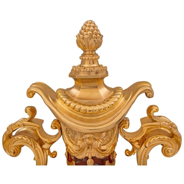 Ormolu Pair of French 19th Century Louis XVI St. Belle Époque Period Urns For Sale