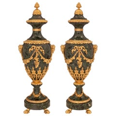 Pair of French 19th Century Louis XVI St. Belle Époque Period Urns