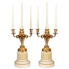 Pair of French 19th Century Louis XVI St. Candelabra