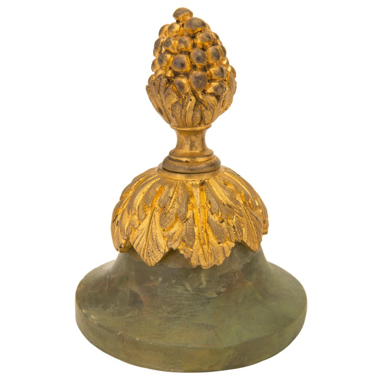 Pair of French 19th Century Louis XVI St. Onyx and Ormolu Lidded Urns For Sale 2
