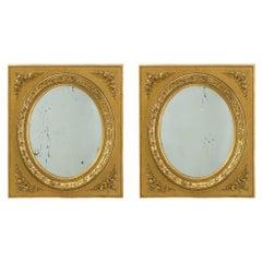 Pair of French 19th Century Louis XVI St. Ormolu Mirrors