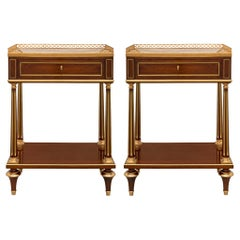 Pair of French 19th Century Louis XVI St. Side Tables