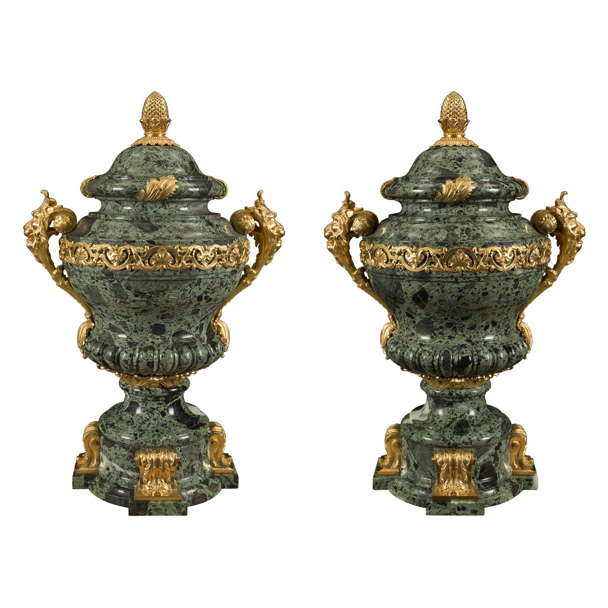 Pair of French 19th Century Louis XVI Style Belle Époque Period Urns