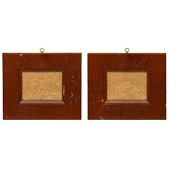 Pair of French 19th Century Louis XVI Style Belle Époque Period Wall Plaques