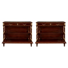 Pair of French 19th Century Louis XVI Style Buffets Attributed to Maison Krieger