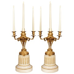Pair of French 19th Century Louis XVI Style Candelabra