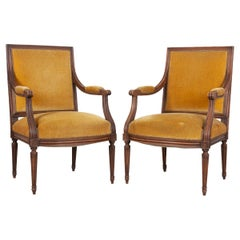 Pair of French 19th Century Louis XVI-Style Fauteuils