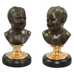 Pair of French 19th Century Louis XVI Style Marble, Ormolu and Bronze