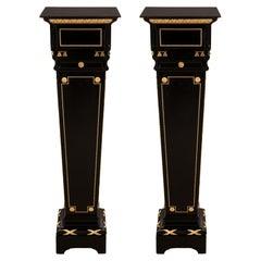 Pair of French 19th Century Louis XVI Style Napoleon III Period Pedestals
