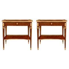 Pair of French 19th Century Louis XVI Style Side Tables