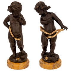 Pair of French 19th Century Louis XVI Style Signed Statues