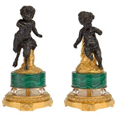Pair of French 19th Century Louis XVI Style Statues