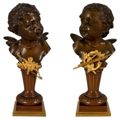 Pair of French 19th Century Louis XVI Style Statues, Signed Carl Kauba