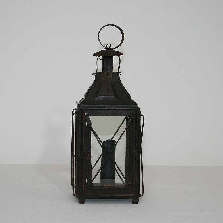 Pair of French, 19th Century Metal Lanterns For Sale 6