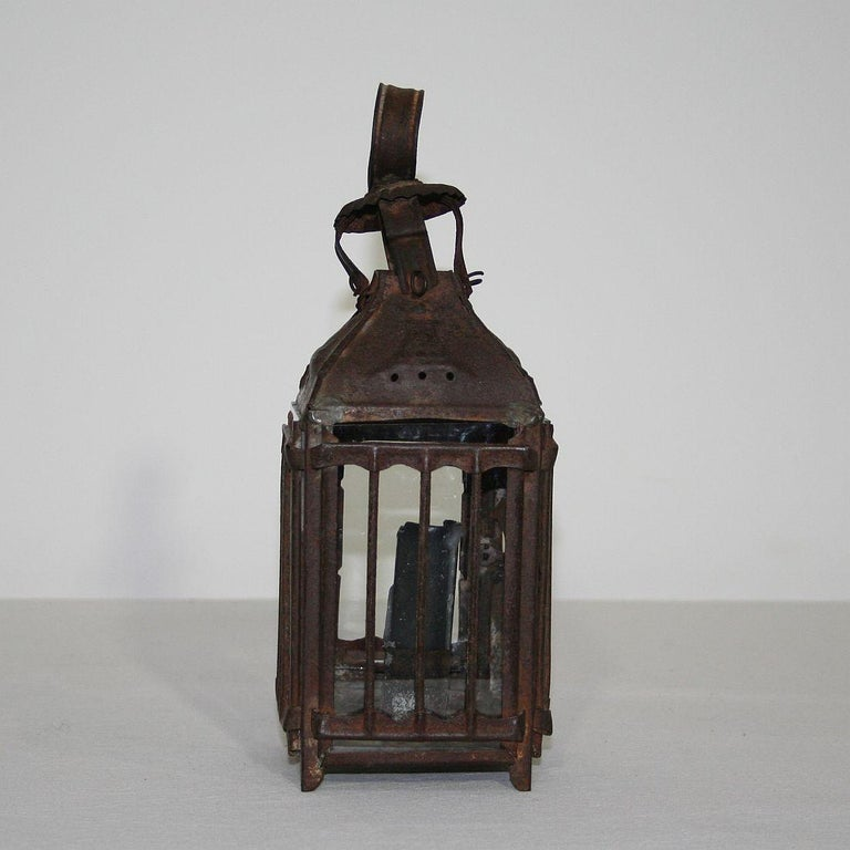 Pair of French, 19th Century Metal Lanterns For Sale 11