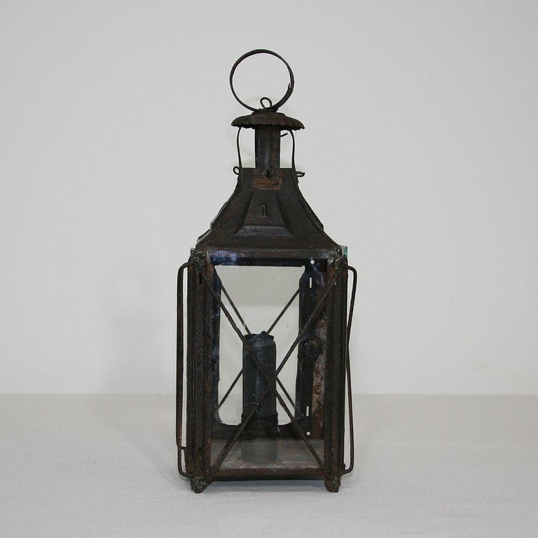 Pair of French, 19th Century Metal Lanterns For Sale 10