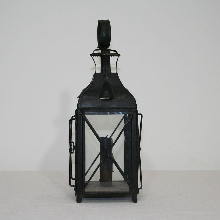 Pair of French, 19th Century Metal Lanterns For Sale 1