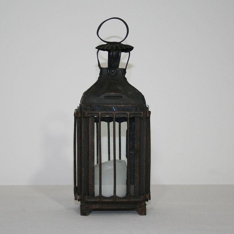 Pair of French, 19th Century Metal Lanterns For Sale 3