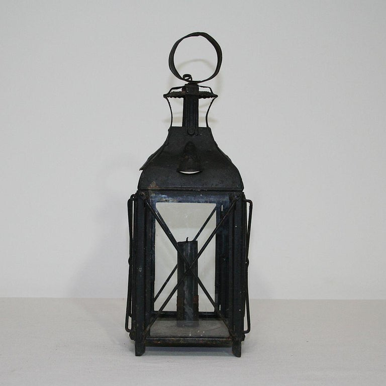 Pair of French, 19th Century Metal Lanterns For Sale 2