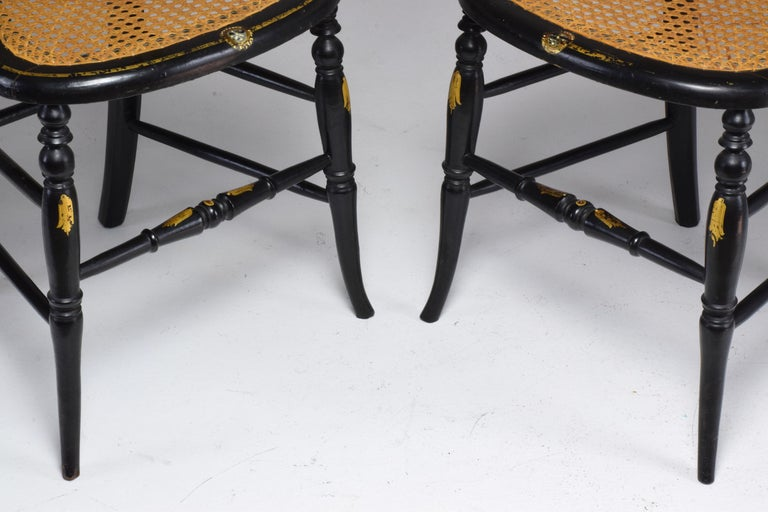 Pair of French 19th Century Napoleon III Chairs For Sale 6