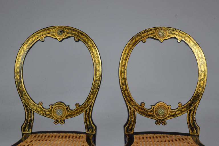 Pair of French 19th Century Napoleon III Chairs For Sale 8