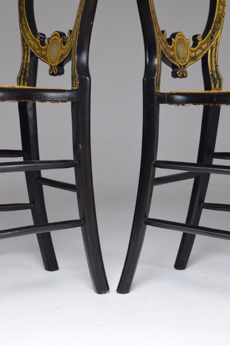 Pair of French 19th Century Napoleon III Chairs For Sale 12