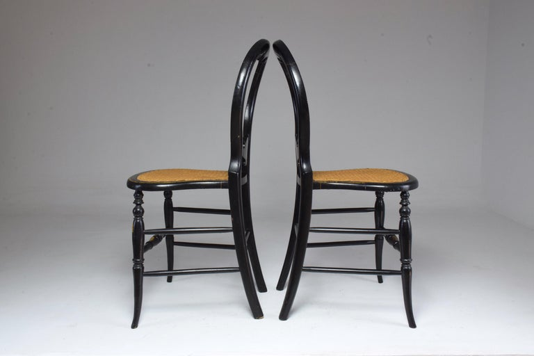 Pair of French 19th Century Napoleon III Chairs For Sale 15