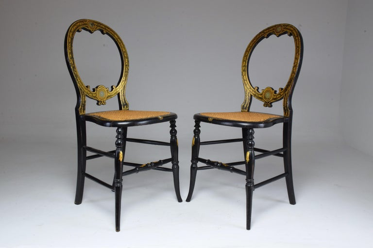 Pair of French 19th Century Napoleon III Chairs In Good Condition For Sale In Paris, FR