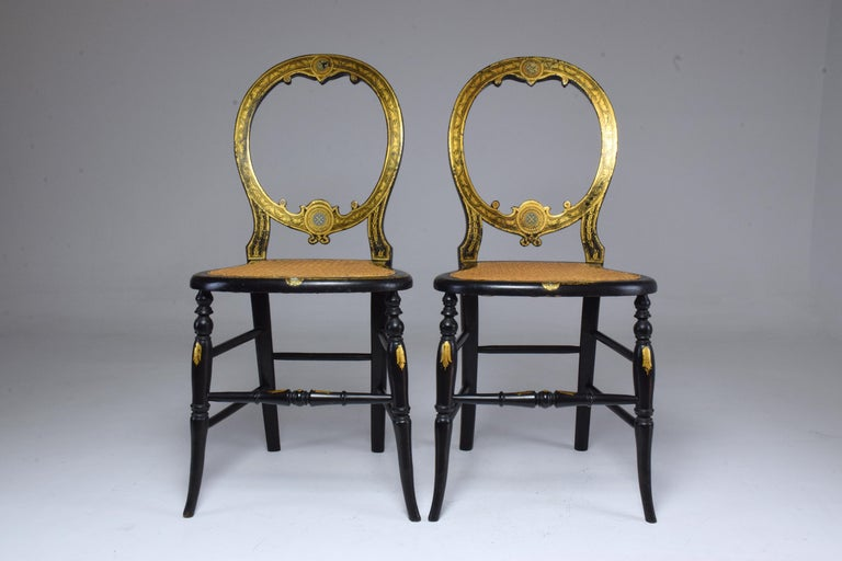 Wood Pair of French 19th Century Napoleon III Chairs For Sale
