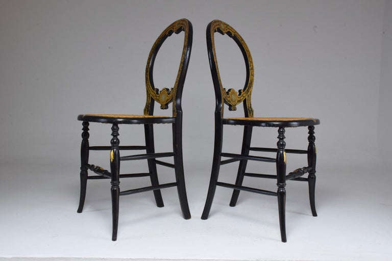 Pair of French 19th Century Napoleon III Chairs For Sale 2