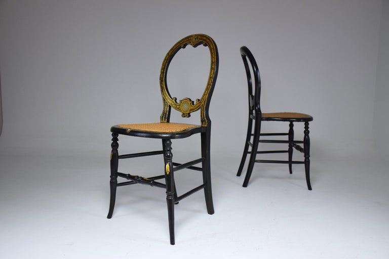 Pair of French 19th Century Napoleon III Chairs For Sale 3