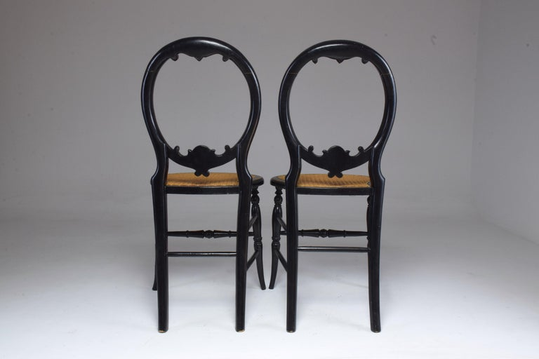 Pair of French 19th Century Napoleon III Chairs For Sale 4