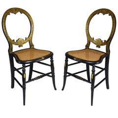 Pair of French 19th Century Napoleon III Chairs