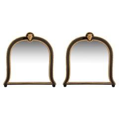 Pair of French 19th Century Napoleon III Period Louis XIV Style Mounted Mirrors