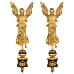 Pair of French 19th Century Neoclassical Style Bronze and Ormolu Wall Decor