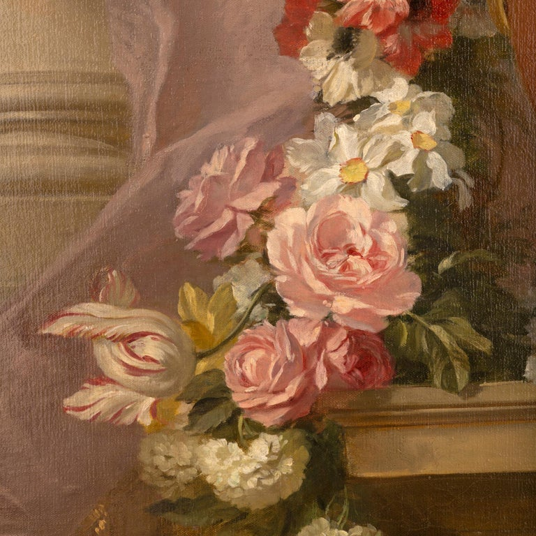 Pair of French 19th Century Neo-Classical St. Still Life Oil on Canvas Paintings For Sale 2
