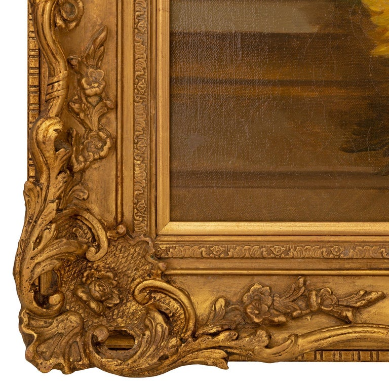 Pair of French 19th Century Neo-Classical St. Still Life Oil on Canvas Paintings For Sale 3