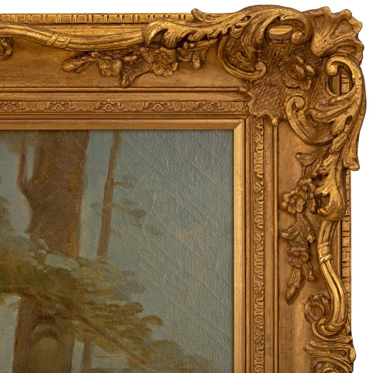 Pair of French 19th Century Neo-Classical St. Still Life Oil on Canvas Paintings For Sale 4