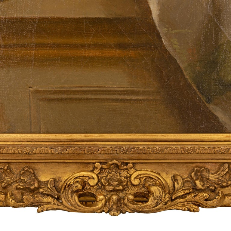 Pair of French 19th Century Neo-Classical St. Still Life Oil on Canvas Paintings For Sale 5