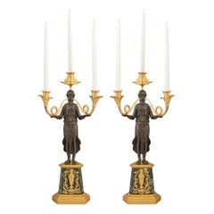 Pair of French 19th Century Neoclassical Style Candelabras