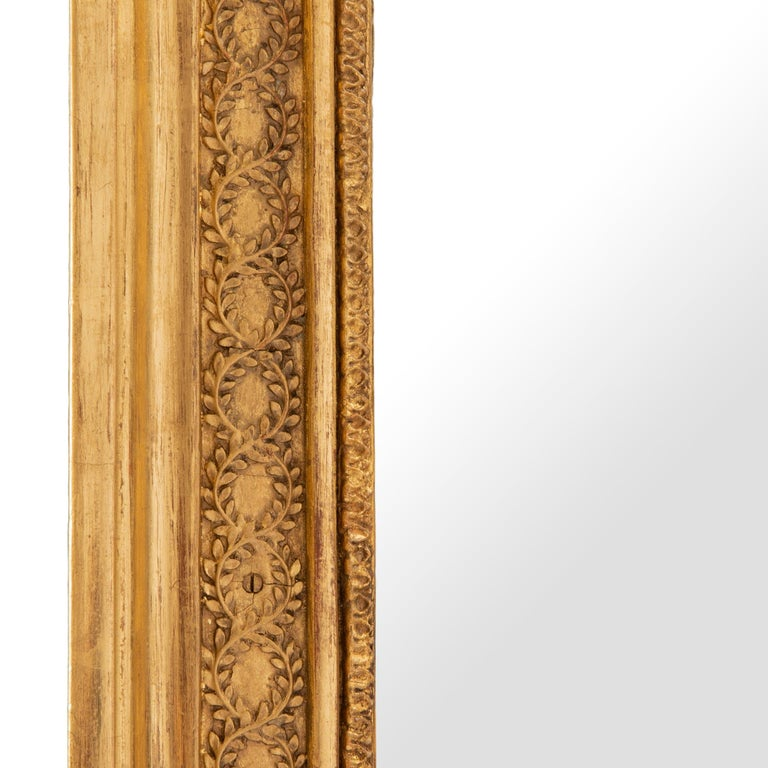 Pair of French 19th Century Neoclassical Style Giltwood Mirrors In Good Condition For Sale In West Palm Beach, FL