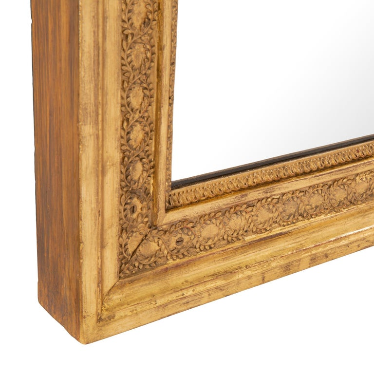Pair of French 19th Century Neoclassical Style Giltwood Mirrors For Sale 1