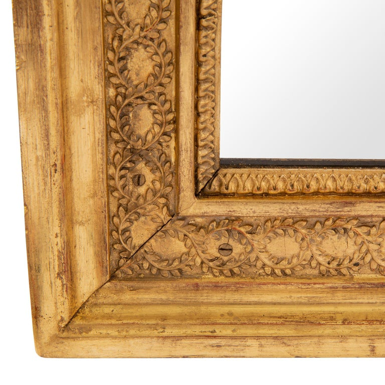 Pair of French 19th Century Neoclassical Style Giltwood Mirrors For Sale 3