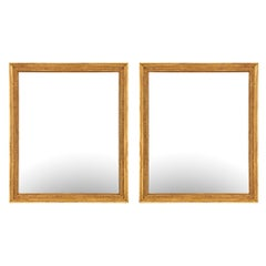 Pair of French 19th Century Neoclassical Style Giltwood Mirrors